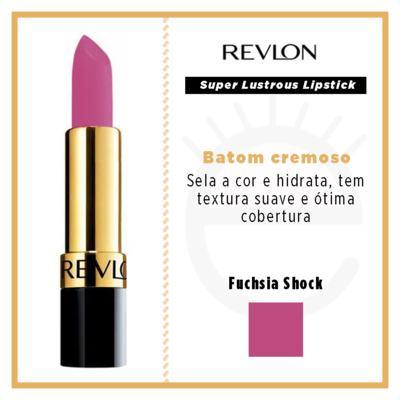 Imagem 8 do produto Super Lustrous Lipstick Revlon - Batom - Fuchsia Shock