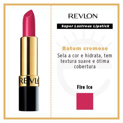 Imagem 4 do produto Super Lustrous Lipstick Revlon - Batom - Fire Ice