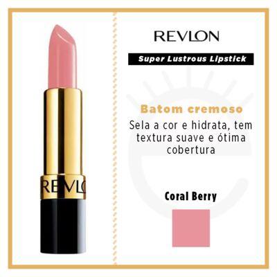 Imagem 4 do produto Super Lustrous Lipstick Revlon - Batom - Coral Berry