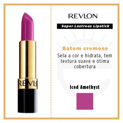Imagem 4 do produto Super Lustrous Lipstick Revlon - Batom - Iced Amethyst