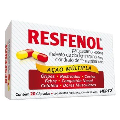 Imagem 4 do produto Resfenol 20 cápsulas Kley Hertz - 20 cápsulas