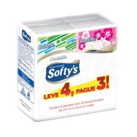 Lenço Softys Bolso Pocket - Folha Dupla | 15 unidades | Leve 4 Pague 3