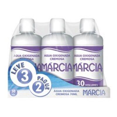 Imagem 1 do produto Água Oxigenada Cremosa Marcia 30 Volumes 70ml 3 unidades