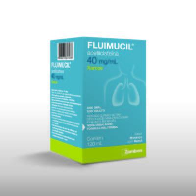Imagem 3 do produto Fluimucil Xarope Expectorante Pediátrico Sabor Framboesa 20mg/mL 120mL - 120mL