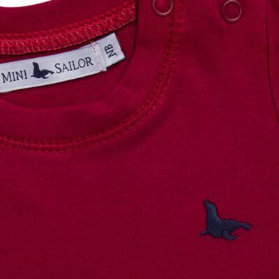 Imagem 2 do produto Body longo em cotton touch Vermelho - Mini Sailor - 01074263 BODY M/L BASICO SUEDINE VERMELHO -9-12