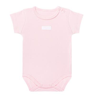 Imagem 1 do produto Body curto para bebe em suedine Rosa - Vicky Lipe - BC235 BODY MC SUEDINE ROSA BB-P