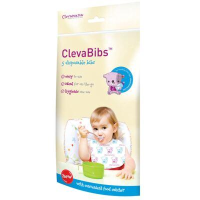 Imagem 1 do produto Babador descartável c/ 5 unidades ClevaBibs - Clevamama