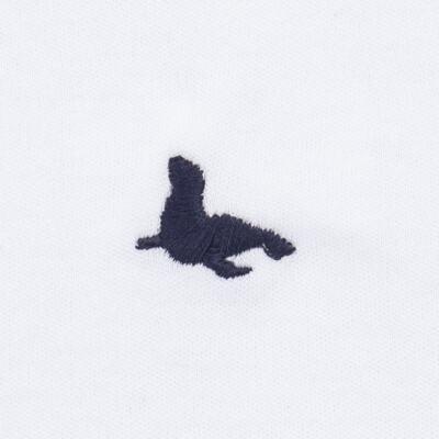 Imagem 3 do produto Body longo c/ Calça (mijão) em cotton touch Branco - Mini Sailor - 19354260 BODY M/L C/ MIJAO SUEDINE BRANCO -0-3