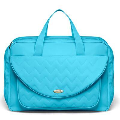 Imagem 2 do produto Mala Maternidade para bebe + Bolsa Turin + Frasqueira Térmica Trento + Trocador Portátil Chevron Turmalina - Classic for Baby Bags