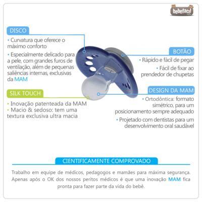 Imagem 2 do produto Chupeta Classic Girls Tam 2  (6m+) Lilás - MAM - MAM2614 Chupeta Classic MAM Girls (6m+)