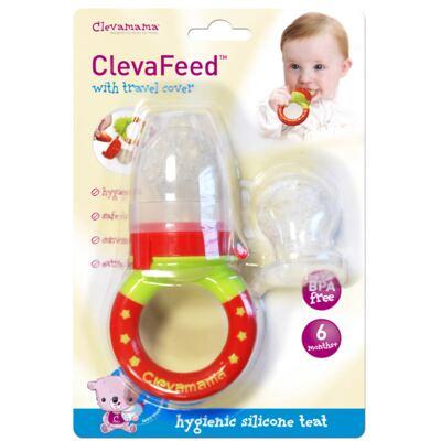 Imagem 1 do produto Mordedor papinha c/ refil em silicone ClevaFeed (6m+) - Clevamama