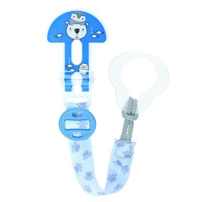 Imagem 1 do produto Prendedor para Chupeta Original Clip It! Boys Polar Bear - MAM