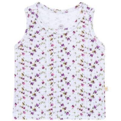 Imagem 1 do produto Regata para bebe em algodão egípcio Cute Flowers - Bibe - 38O02-G44 REGATA ESTAMPA DIGITAL FLORES LILÁS-G