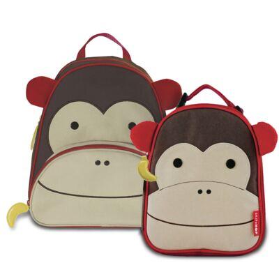 Imagem 1 do produto Mochila para bebe + Lancheira Zoo Macaco - Skip Hop