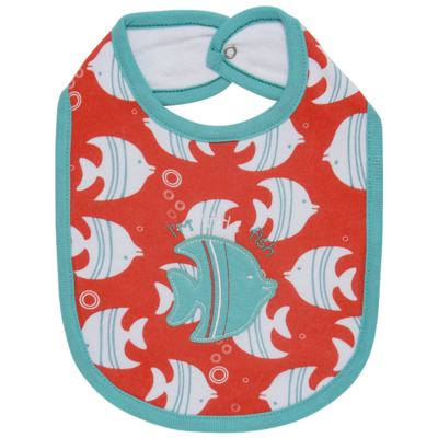 Imagem 1 do produto Babador para bebe atoalhado Cute Fish - Classic for Baby