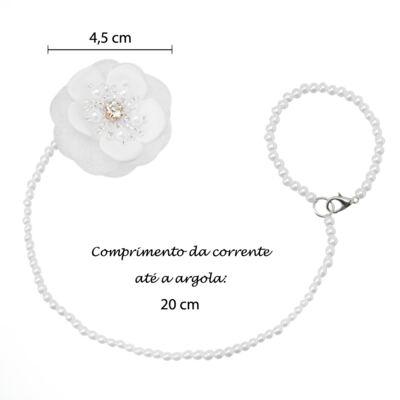Imagem 4 do produto Prendedor de chupeta Flor & Pérolas Branco - Roana