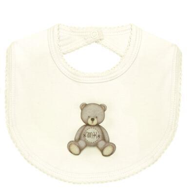 Imagem 2 do produto Pack: 2 babadores em Pima Cotton Supreme Prime Bear Marfim - Mini & Kids