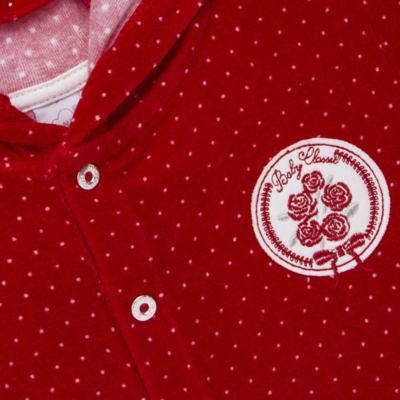 Imagem 3 do produto Casaco c/ capuz e Calça para bebe em plush Ruby - Mini & Kids - CCPZ1051.215 CONJ. BLUSÃO CAPUZ E CALÇA PLUSH VERMELHO-P