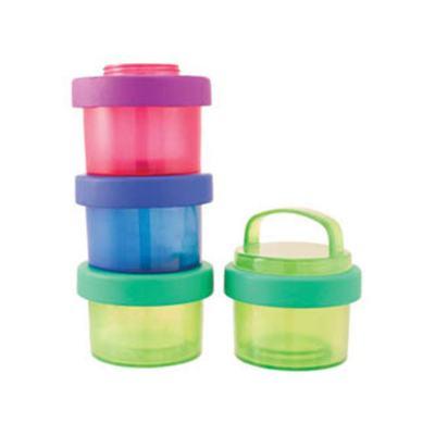 Imagem 3 do produto Kit 4 Potes Empilháveis Snack Cylinders (0m+) - Sassy