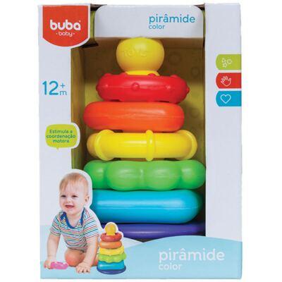 Imagem 1 do produto Pirâmide de Anéis Colorida (12m+) - Buba