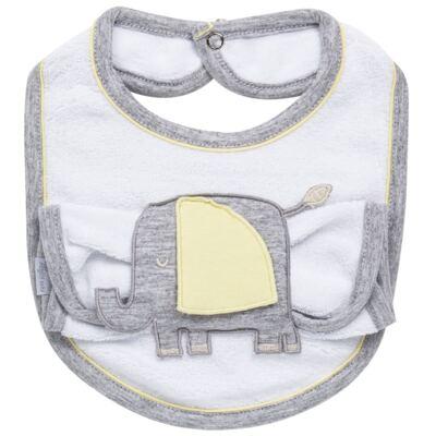 Imagem 1 do produto Babador com fraldinha de boca para bebe Yellow Zoo - Anjos Baby