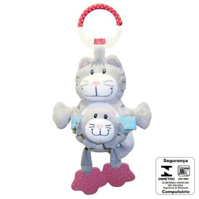 Imagem 1 do produto Chocalho Mamãe e Bebê (3m+) Gatinho - Animal Planet