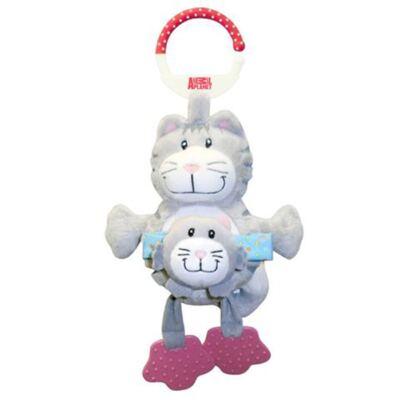 Imagem 2 do produto Chocalho Mamãe e Bebê (3m+) Gatinho - Animal Planet