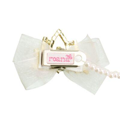 Imagem 2 do produto Prendedor de chupeta Laço & Coroa Marfim - Roana