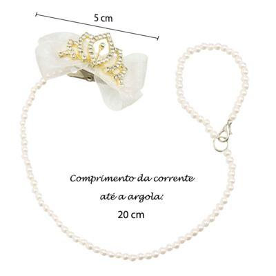 Imagem 4 do produto Prendedor de chupeta Laço & Coroa Marfim - Roana