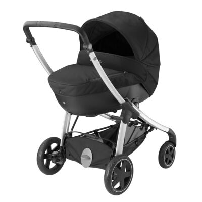 Imagem 5 do produto Travel System: Carrinho de bebê Elea Total Black + Moisés Windoo Plus Black Raven + Bebê Conforto Streety.fix Black Raven (0m+) - Bébé Confort