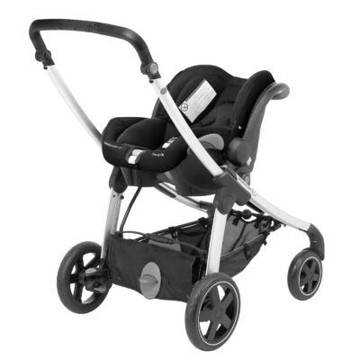 Imagem 6 do produto Travel System: Carrinho de bebê Elea Total Black + Moisés Windoo Plus Black Raven + Bebê Conforto Streety.fix Black Raven (0m+) - Bébé Confort