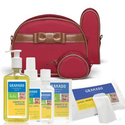 Imagem 1 do produto Kit Acessórios Laço Caramel Vermelho + Kit Granado Bebê - Classic For Baby Bags & Granado