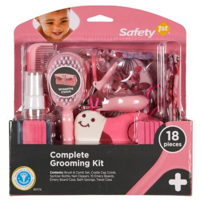 Imagem 1 do produto Kit Completo de Higiene e Beleza Pink 18pçs (0m+) - Safety 1st