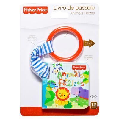 Imagem 1 do produto Livro de passeio Animais Felizes (12m+) - Fisher Price