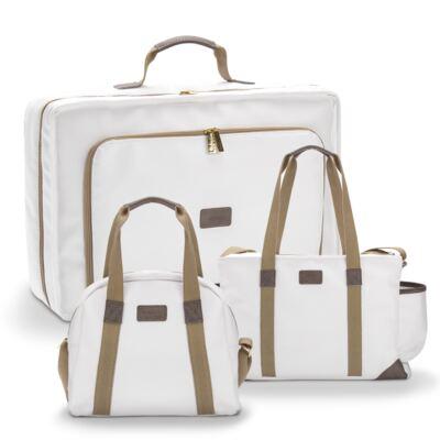 Imagem 1 do produto Mala maternidade + Bolsa + Frasqueira para bebe Off White - Masterbag