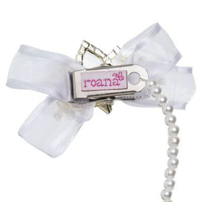 Imagem 2 do produto Prendedor de chupeta Laço & Coroa Branco - Roana