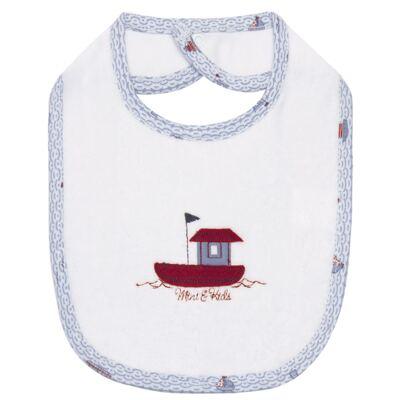 Imagem 1 do produto Babador atoalhado com bolsinho Boat - Classic for Baby