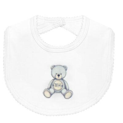 Imagem 2 do produto Pack: 2 babadores em Pima Cotton Supreme Prime Bear Branco - Mini & Kids