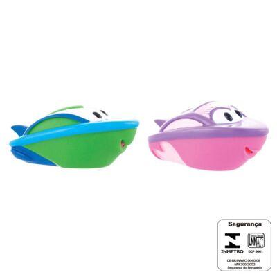 Imagem 4 do produto Barquinhos para banho Rosa e Verde (6m+) - Sassy