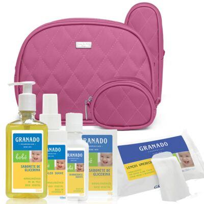 Imagem 1 do produto Kit Acessórios Colors Pink + Kit Granado Bebê - Classic For Baby Bags & Granado
