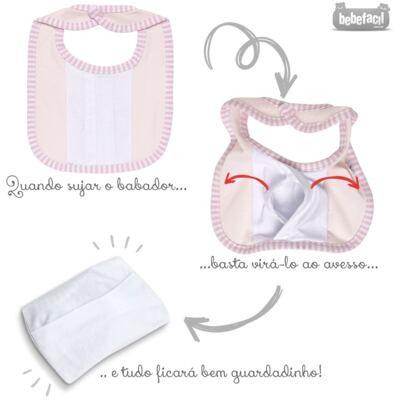 Imagem 3 do produto Babador para bebe atoalhado com bolsinho Elefantinha - Classic for Baby