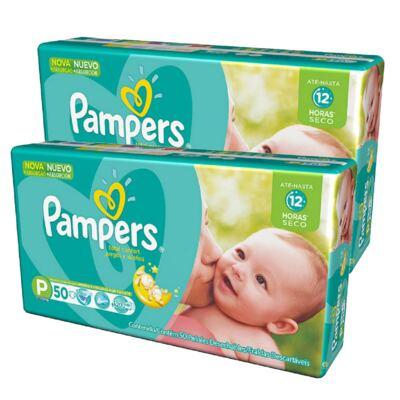 Imagem 1 do produto Kit Fralda Pampers Total Confort Econômica P 100 Unidades