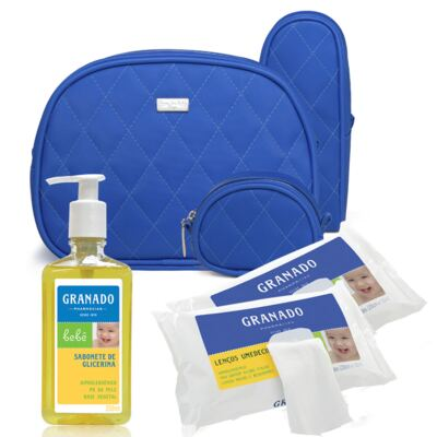Imagem 1 do produto Kit Acessórios Colors Klein +  Lenços Umedecidos + Sabonete Líquido Bebê Tradicional - Classic For Baby Bags & Granado