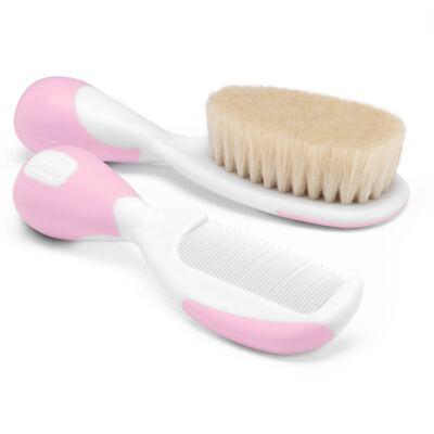 Imagem 2 do produto Escova e Pente Cerdas Naturais Rosa (0m+) - Chicco