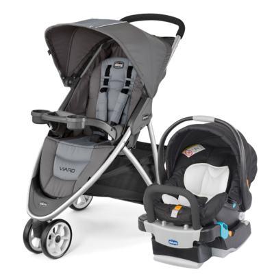 Imagem 1 do produto Viaro Travel System: Carrinho de bebê Viaro Graphite + Poltrona Keyfit Night (0m+) - Chicco
