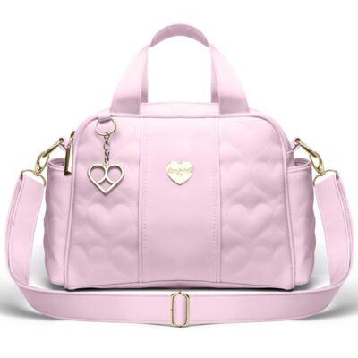 Imagem 1 do produto Bolsa Térmica para bebe Santiago Corações Matelassê Rosa - Classic for Baby Bags