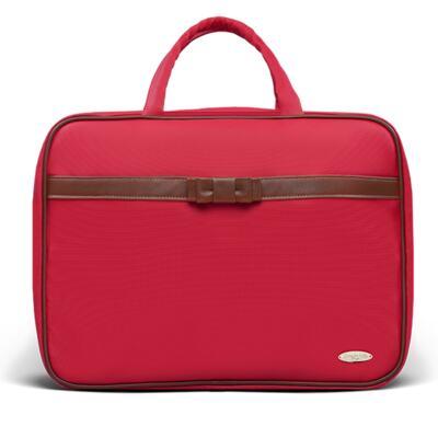 Imagem 2 do produto Kit Mala Maternidade para bebe + Bolsa Viagem Oxford + Frasqueira Térmica Kent + Necessaire Laço Caramel Vermelho - Classic for Baby Bags