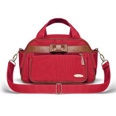 Imagem 4 do produto Kit Mala Maternidade para bebe + Bolsa Viagem Oxford + Frasqueira Térmica Kent + Necessaire Laço Caramel Vermelho - Classic for Baby Bags