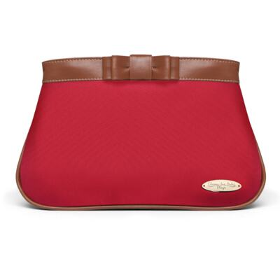 Imagem 5 do produto Kit Mala Maternidade para bebe + Bolsa Viagem Oxford + Frasqueira Térmica Kent + Necessaire Laço Caramel Vermelho - Classic for Baby Bags