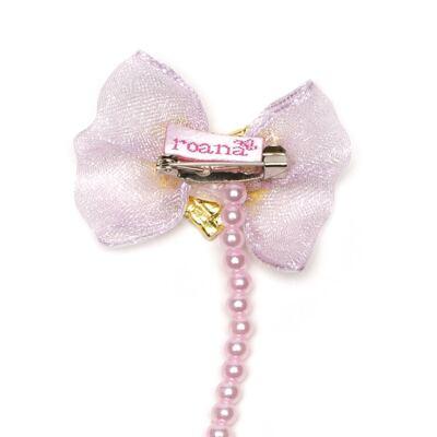 Imagem 2 do produto Prendedor de chupeta Laço Coração Rosa - Roana
